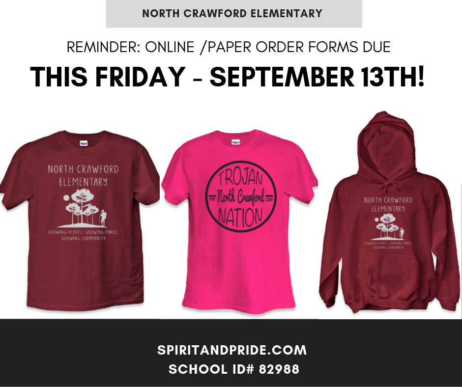Trojan Wear Orders Due Friday!