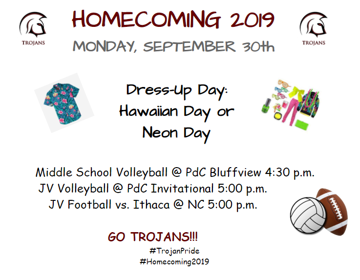 Homecoming Week Monday Activities