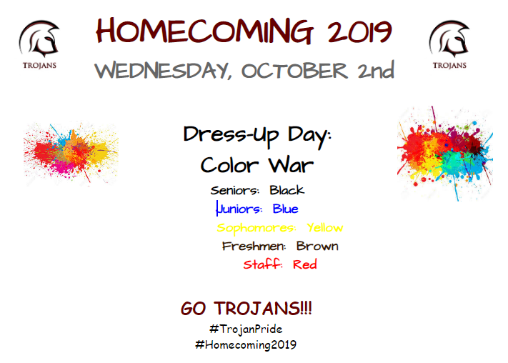 Homecoming Week Wednesday Activities