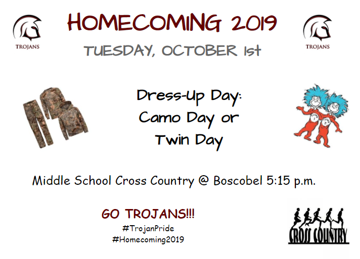 Homecoming Week Tuesday Activities