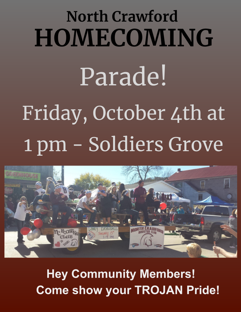 Homecoming Parade 1pm Friday