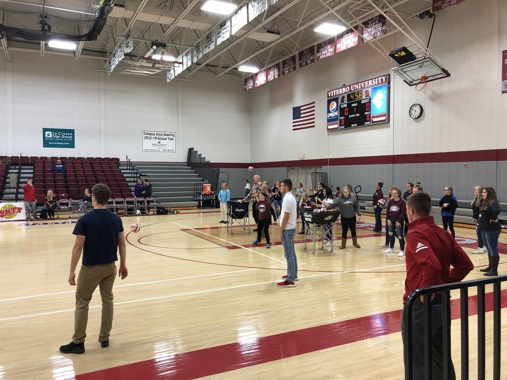 Girls got to shag balls while V-Hawks warmed-up