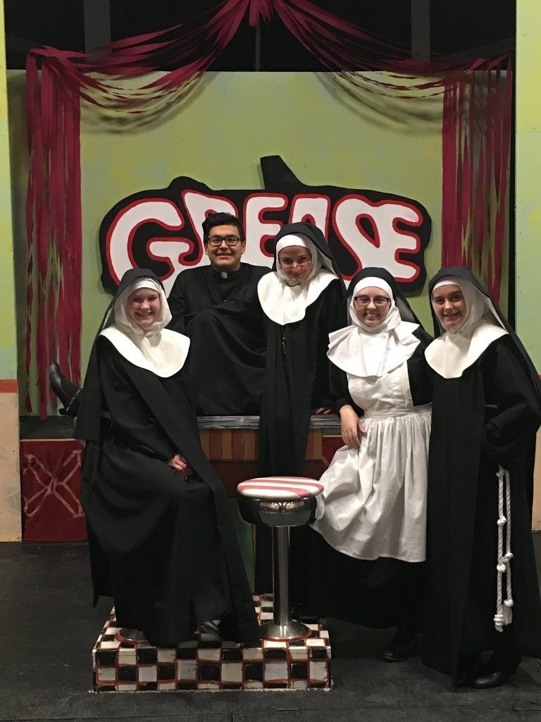 Student Performers in Playhouse Production of Nunsense