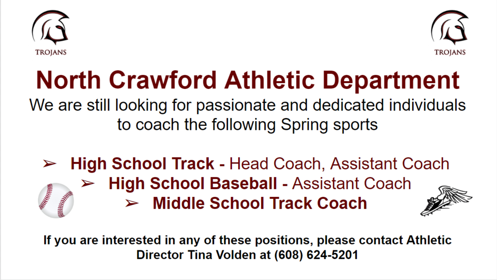 Spring Coaches Needed