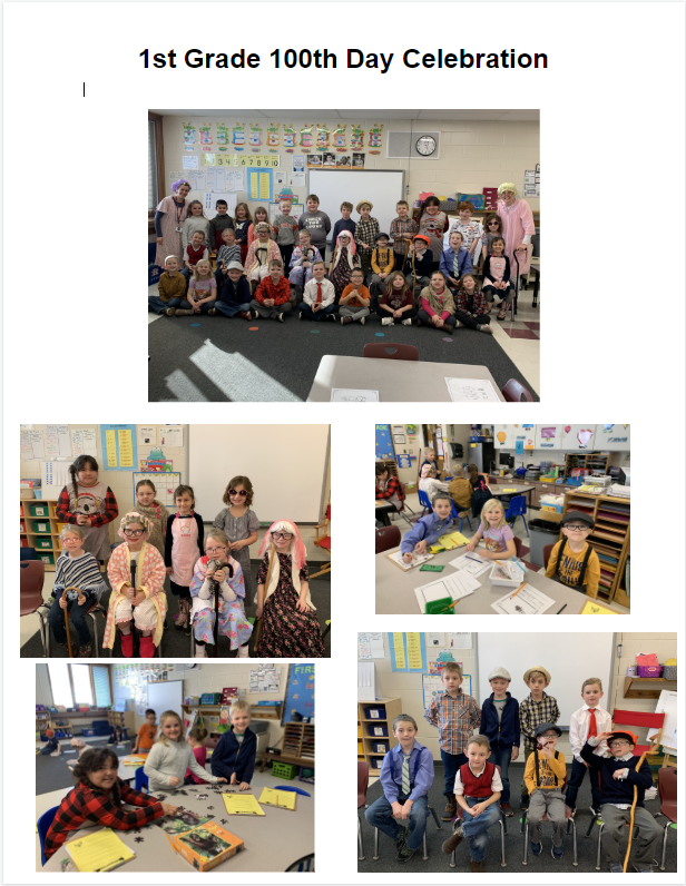 1st Grade 100th Day Celebration