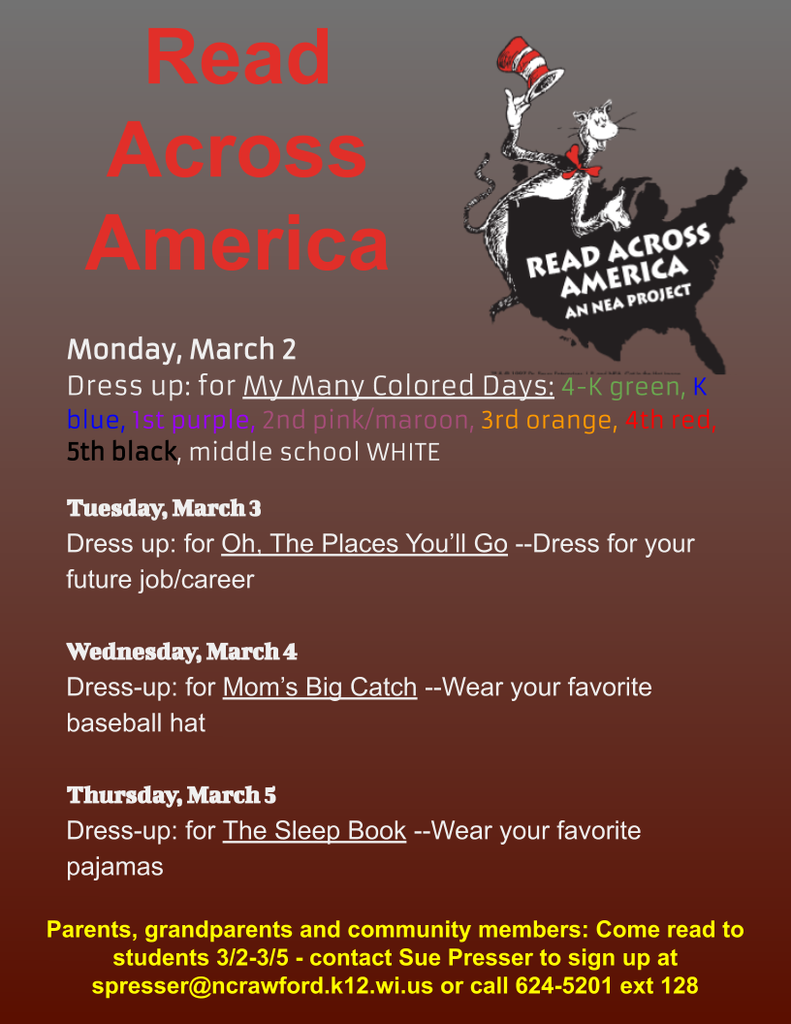 schedule for Read Across America