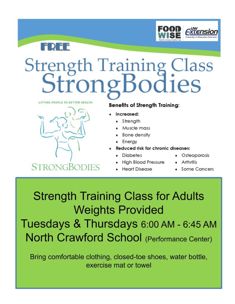Strength Training Class - All Welcome