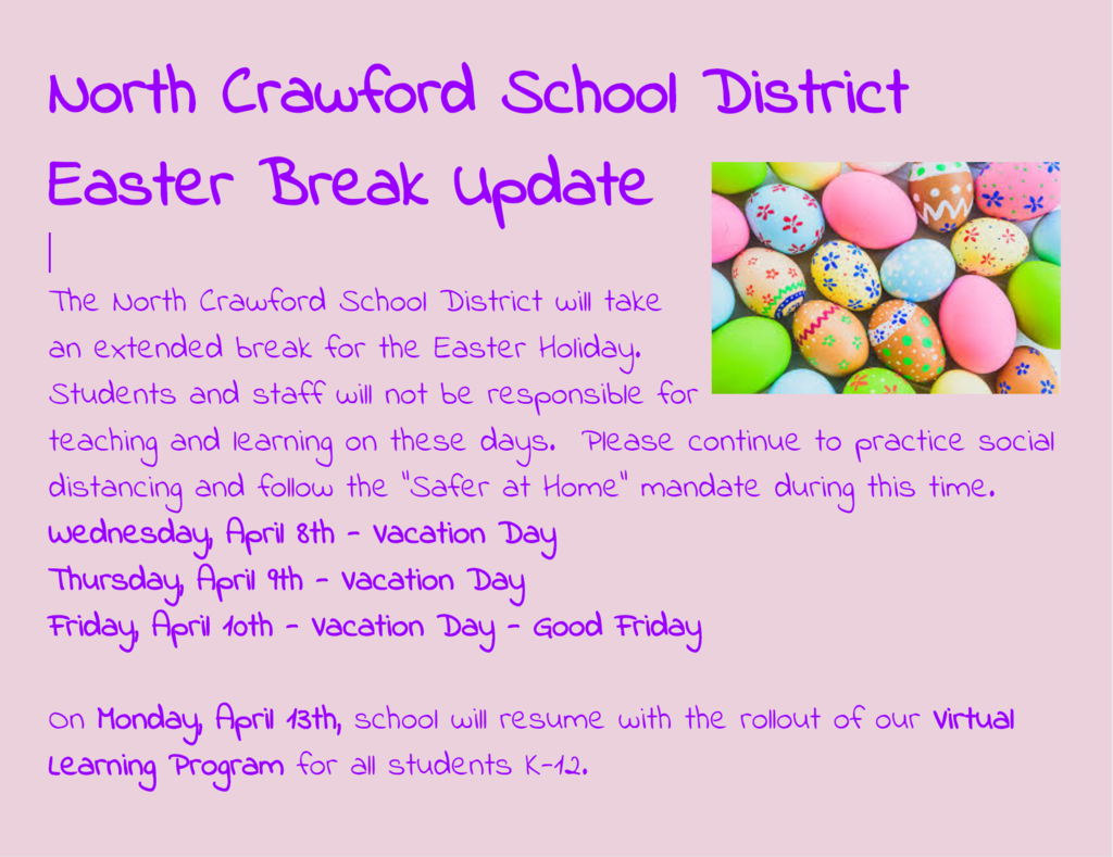 Easter Break Update