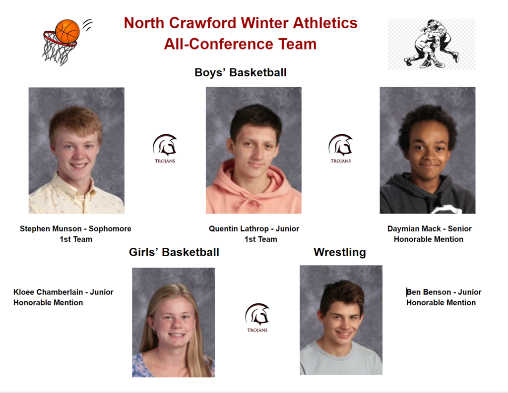 Winter Athlete All-Conference Recognition