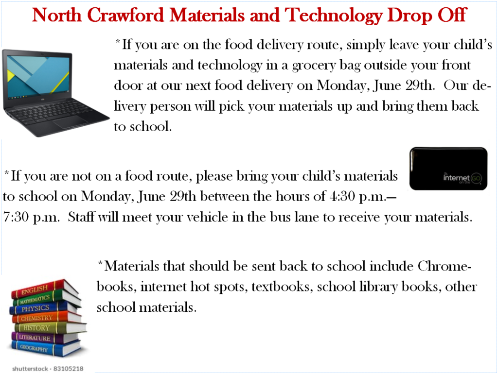 Materials  and Technology Drop Off